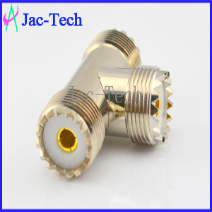 RF Caoxial Connector Tri Female UHF