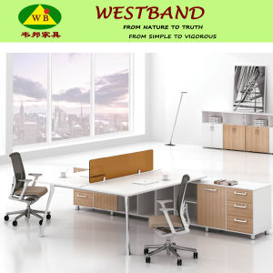 Contemporary Style Panel Office Workstation with Acrylic Screen