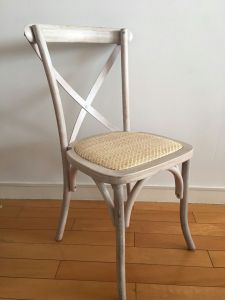 Beech Wood Limewash X Cross Back Vineyard Chairs for Weddings pictures & photos