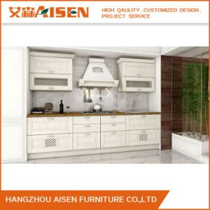 Contemporary Solid Wood Kitchen Cabinets with Modern Bar (ASSW021) pictures & photos