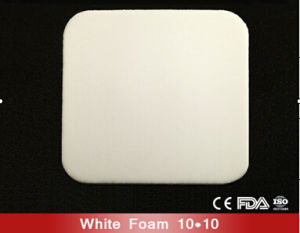 10cm*10cm White Foam Wound Dressing with Ce and ISO pictures & photos
