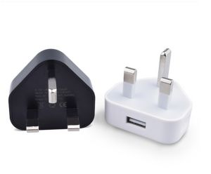 Single USB Wall Charger 3pin UK Plug Charger pictures & photos