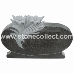 Impala Black Headstone With Ornament Flower pictures & photos
