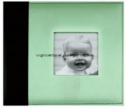 "Best Selling 8""X8"" Silk Fabric Cover Baby Scrapbook Album pictures & photos"