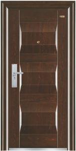 Walnut Colour Panel Steel Security Door pictures & photos