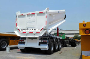 China Brand Three Axles U-Shape Rear Dump Trailer pictures & photos