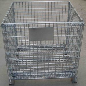 Collapsible Wire Mesh Container/ Wire Storage Cage/Work Pallet pictures & photos
