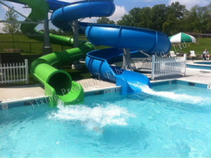 Swimming Pool Fiberglass Water Slides for Sale pictures & photos