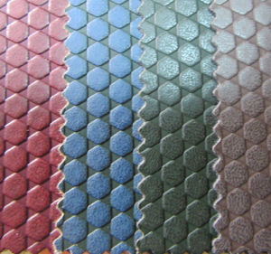 Soccer Embossed PU Leather for Shoes and Bags (YS1510) pictures & photos