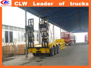 Heavy Duty Machinery Low Loader Semitrailer Lowbed Semi Trailer pictures & photos