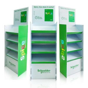 Professional Corrugated Cardboard Floor Display Stand, Paper Display Rock pictures & photos