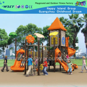 Factory Price Children Playground with Sharp Roof on Promotion (HD-01801) pictures & photos