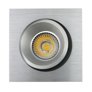 Lathe Aluminum GU10 MR16 Square Recessed Tilt Downlight (LT2205B) pictures & photos