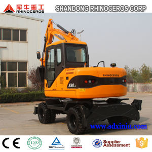 Chinese New Condition Wheel Moving Type Excavator 8ton Wheel Excavator with Japanese Engine pictures & photos