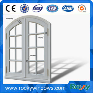 French Aluminum Casement Roller Screen Window pictures & photos