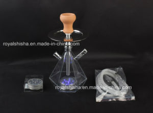 New Cheap Portable Acrylic Hookah Shisha with LED pictures & photos