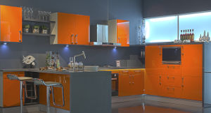 2017 High Glossy UV Kitchen Cabinet (ZX-021) pictures & photos