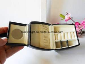 Stylish Black Jewelry Case with Cream Suede Interior. pictures & photos