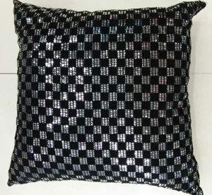 Sequin Embroidery Cushion Fashion Decorative Pillow (XPL-13) pictures & photos