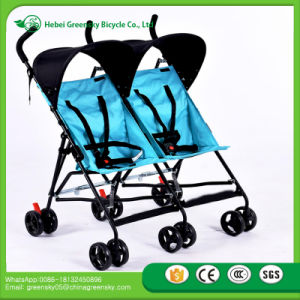 New Design Good Quality Wonderful Twin Baby Stroller, Umbrella Twins Baby Stroller pictures & photos