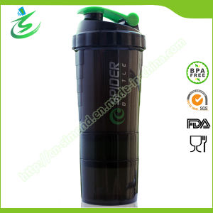500ml Spider Shaker Bottle with Compartments pictures & photos