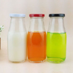 100ml 250ml 500ml Milk Glass Bottles with Tinplate Lid pictures & photos