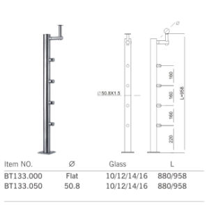 High Quality Withsafe Stainless Steel Baluster Post (BT133) pictures & photos