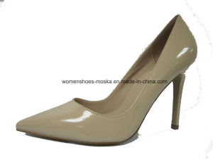 Six Colors Wholesale Women Fashion High Heel Lady Dress Shoes with PU Upper pictures & photos