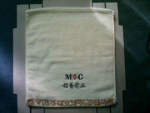 Zero Twist Customized Embroidered Cotton Terry Face Towels Cu-300
