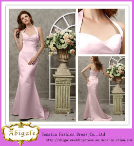 2013 Custom Made Halter Floor Length Sheath Slim Dresses Prom (SR56) pictures & photos