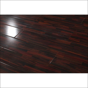 Classical Red Color Strips HDF Laminate Flooring with U-Groove pictures & photos