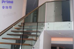 Tempered Glass and Stainless Steel Stairs Balustrade pictures & photos