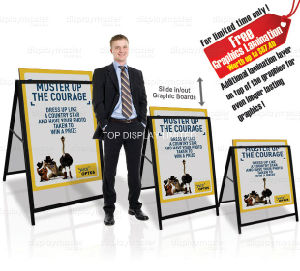 """Business Yard Signs for Real Estate & Election Campaigns Pop up Advertising Promotional Equipment Portablea Frame Sidewalk24""""X36"""" Display Stand pictures & photos"""