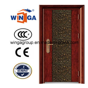 Villa Buidling Sunproof Good Quality Security Iron Steel Door (W-S-17) pictures & photos