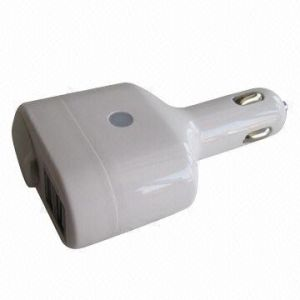 Car Cigarette Lighter Socket Dual USB Car Charger, 5V 2100mA Output