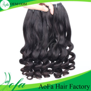 Wholesale Virgin Human Indian Wave Remy Hair pictures & photos