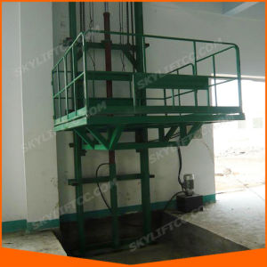Restaurant Mounted Kitchen Guide Rail Dish Lift with Top safety pictures & photos