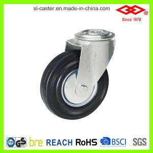 Black Rubber Swivel Plate Caster (P102-11D080X25) pictures & photos
