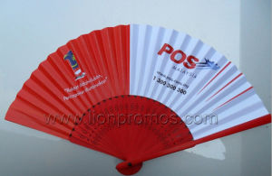 Custom Printing Chinese Traditional Hand Hold Bamboo Paper Fan pictures & photos