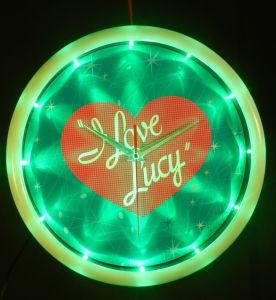 LED Edge-Lighting Clock/LED Neon Clock/ Promotion Clock