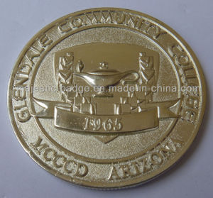 3D Gold Plating Customized College Coin pictures & photos