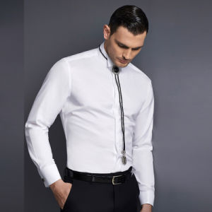 Slim Fit White Cotton Dress Shirts Men′s Business Shirt pictures & photos