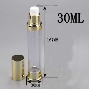 30ml Golden Airless Packaging Bottle for Cosmetic Lotion Cream pictures & photos