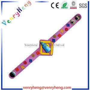 Customs 3D Cartoon PVC Wristband Bracelet for Promotion Gfit pictures & photos