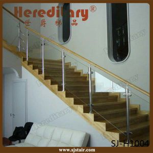 Indoor Power Coated Black Stair Handrail Stainless Steel Glass Baluster (SJ-S132) pictures & photos