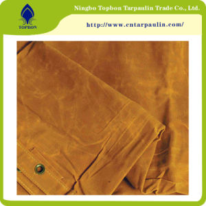 Polyester/Cotton Canvas Tarpaulin Waterproof Fabric pictures & photos