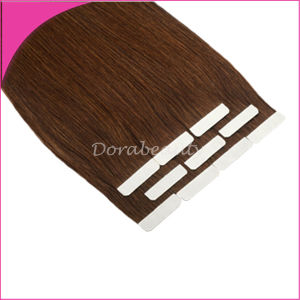 Brown Double Side Tape Adhesive PU Human Hair Extensions pictures & photos