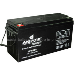 Solar Battery 12V150ah (ISO14001, ISO9001, CE, UL) pictures & photos