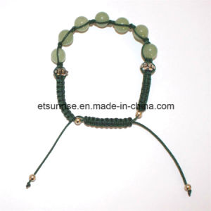 Semi Precious Stone Natural Crystal Beaded Knitting Bracelet pictures & photos