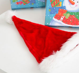 Factory High Quality Soft Best Sale Christmas Decoration Santa Claus Hat pictures & photos